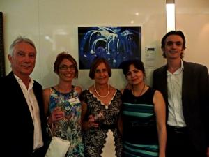 Clayton Utz Art Award with the family.
