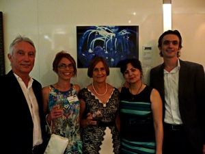 Clayton Utz Art Award with the family.
